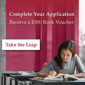 save $300 on first semester books apply today