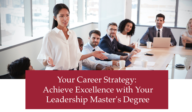 career strategy leadership excellence lead with purpose online MA leadership